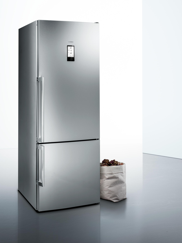 Siemens frigor fico combinado kg56fpi40 iq700 frigor fico for Frigorifico acero inoxidable