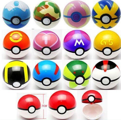 36Pcs//Lot ABS Anime action Figures Pokemon Go balls Master Ball Kids Toys Gifts