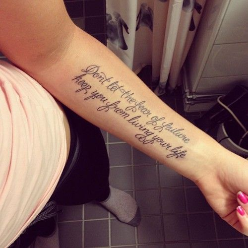 Tattoo Quotes Gallery: Best 25+ Forearm Tattoo Quotes Ideas On Pinterest