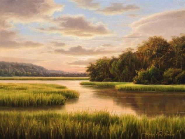 Henry Von Genk Iii Realistic Landscape Paintings Landscape Paintings Landscape Landscape Art