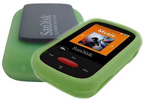 cool Silicone Skin Case Cover For SanDisk Clip Sport MP3 Player (Model SDMX24), Green