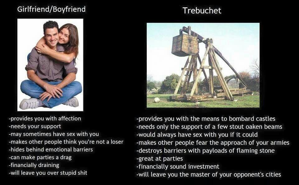 Significant Other Vs Trebuchet Girlfriend Humor Trebuchet Memes Memes