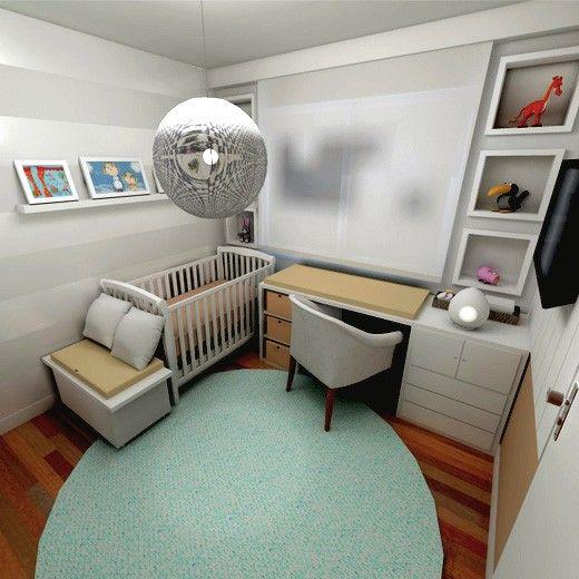 Quarto De Bebê E Home Office