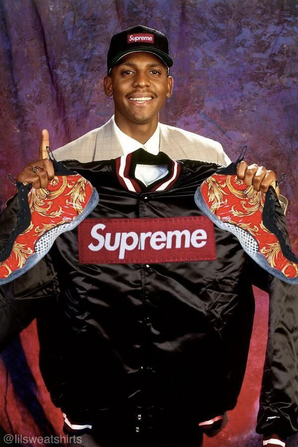 4b20c944403 Photo Of The Day    Penny Hardaway With Supreme Foamposites On Draft Day