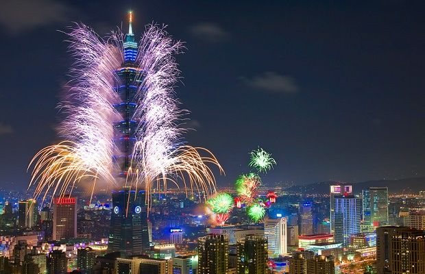 New Years Eve 2017 In Taiwanese Cities New Years Eve Fireworks New Year Fireworks Fireworks