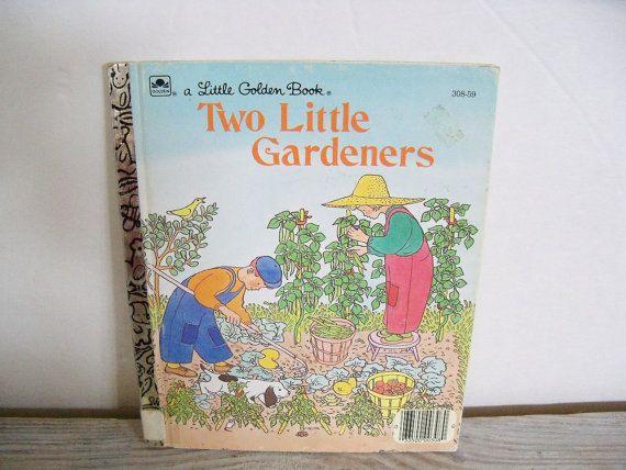 Two Little Gardeners Little Golden Book by VickiesVintageBooks, $5.00