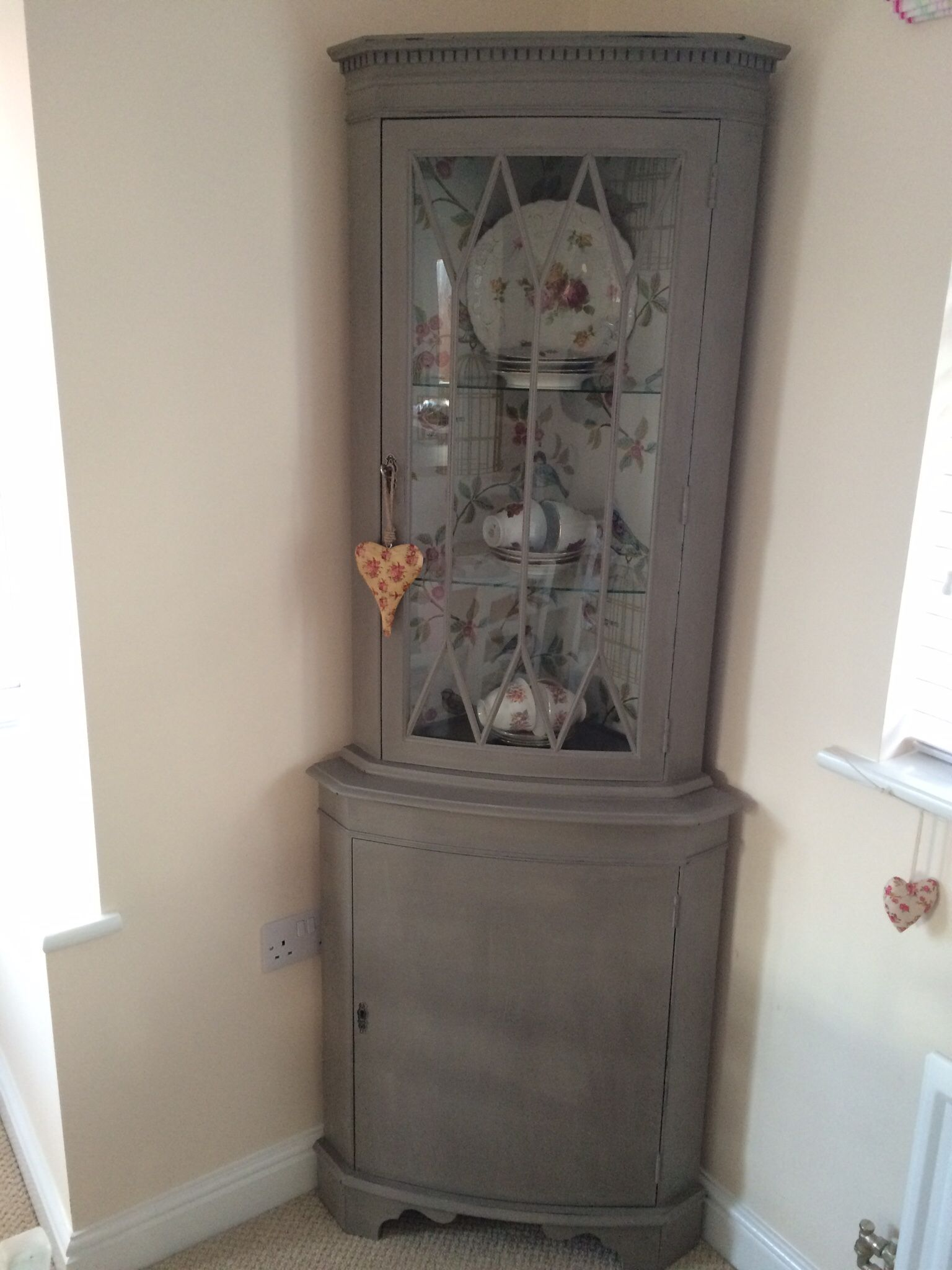 Antique kitchen corner cabinets - Love My Shabby Chic Corner Unit Done In Annie Sloan French Linen Chalk Paint Fits