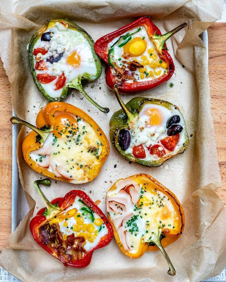 Egg Stuffed Breakfast Peppers 3 Ways for Epic Clean Eating Anytime!
