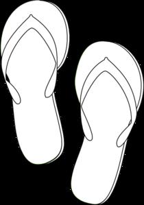 bd77dad7f Flip Flops Outline clip art - vector clip art online