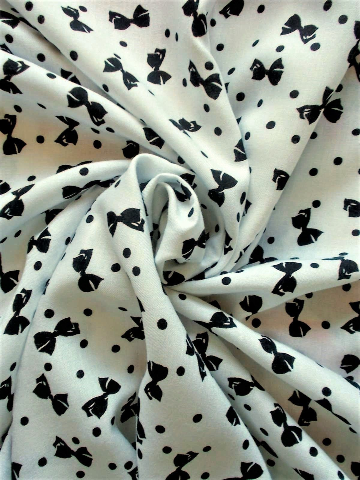 Vintage 1950s Cotton Fabric Polka Dotted Dots 1960s 4Y 37W
