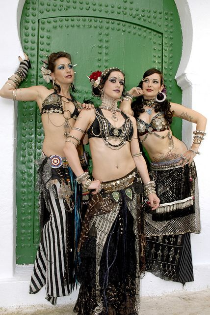 Tribal fusion assiut costumes on fit and beautiful women.