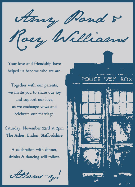 Perfect Devin And Annie Yall Should Really Do A Doctor Who Theme...yall Fit. Doctor  Who Wedding Invitation ...