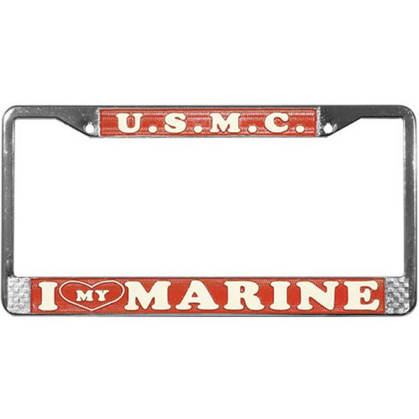 USMC - I Love My Marine License Plate Frame - See all the Plates and ...