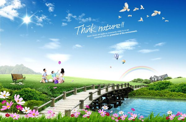 Beautiful Outdoor Scenery As Psd Material Scenery Beautiful Backgrounds Psd Background