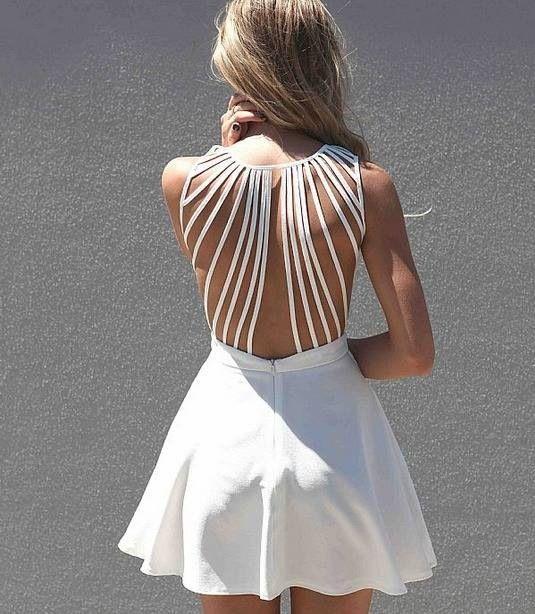 White open back short dress #MillionDollarShoppersAndrea.