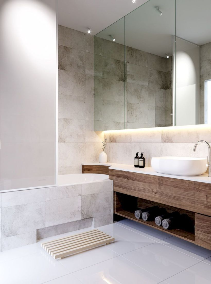 Nice 48 Minimalist Apartment Bathroom Decor Ideas More At Http - Nice-apartment-bathrooms