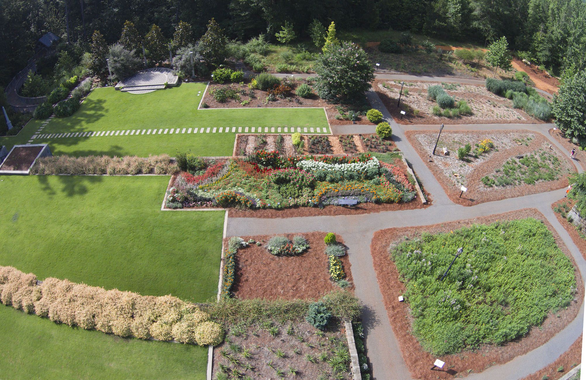 AAS Display Gardens Aerial view of State Botanical Garden of