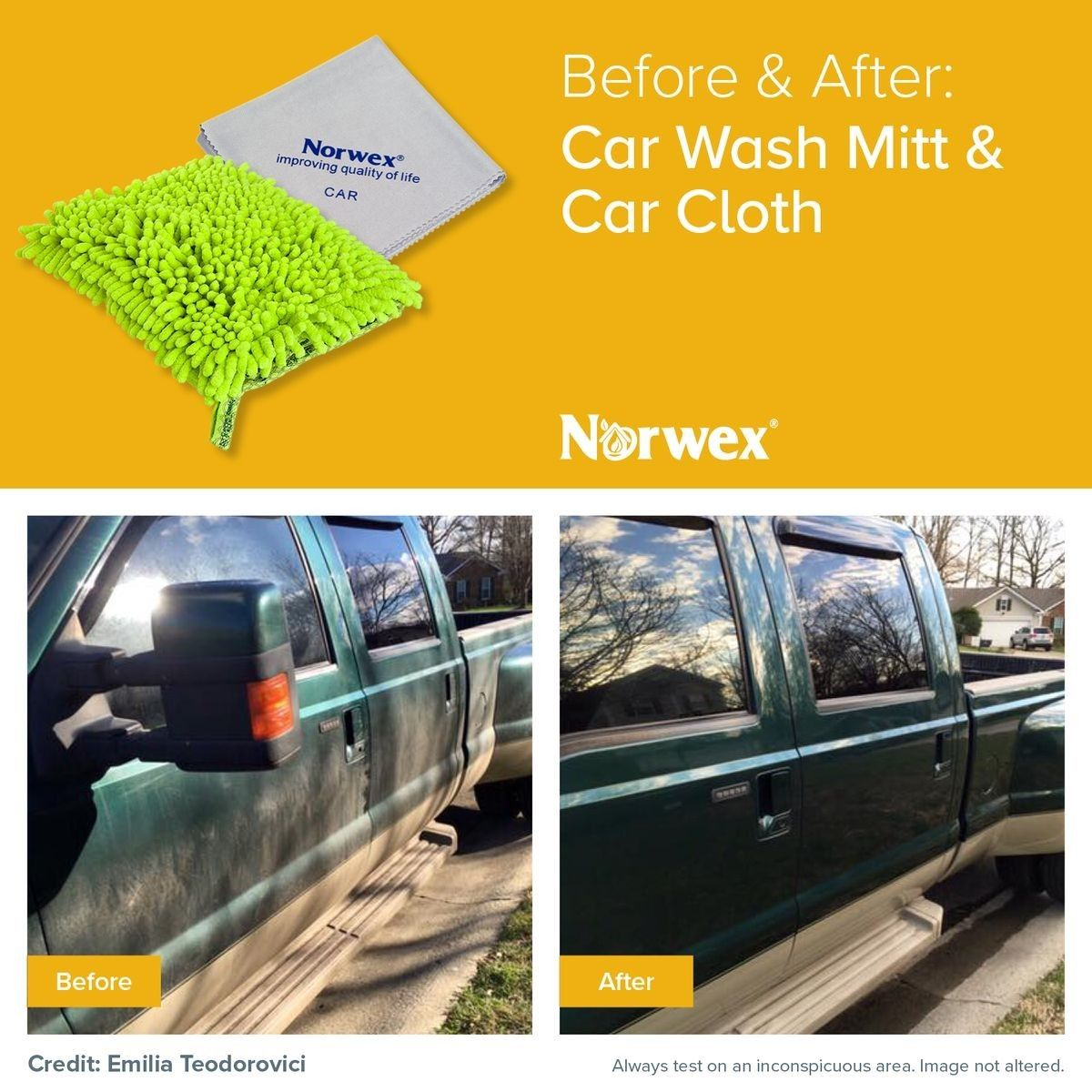 Norwex Car Wash Mitt & Car Cloth Car wash mitt, Norwex