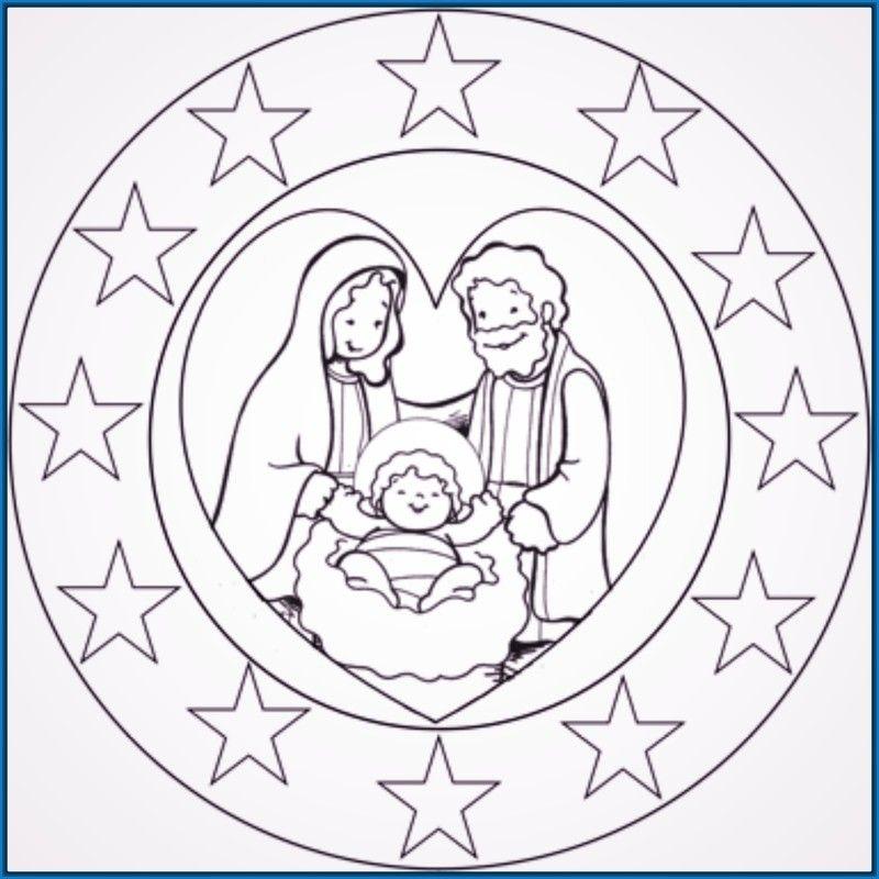 Resultado De Imagen Para Mandala Del Nacimiento Para Niños