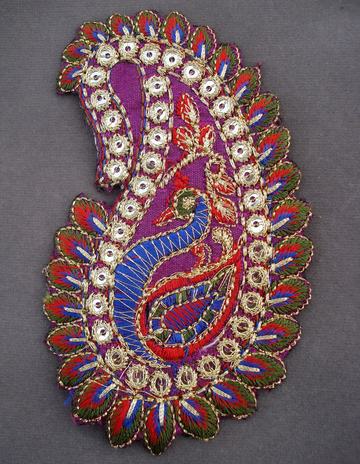 Embroidered paisley motif