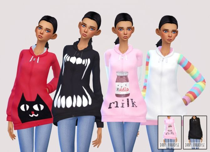 Oversized hoodie at Dani Paradise via Sims 4 Updates