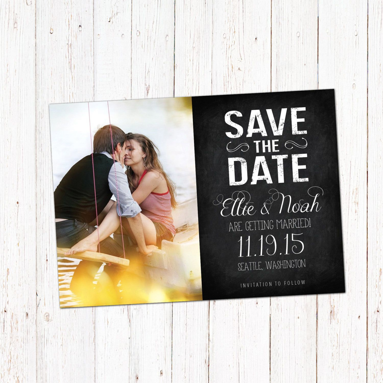 Save The Date Template Card Digital