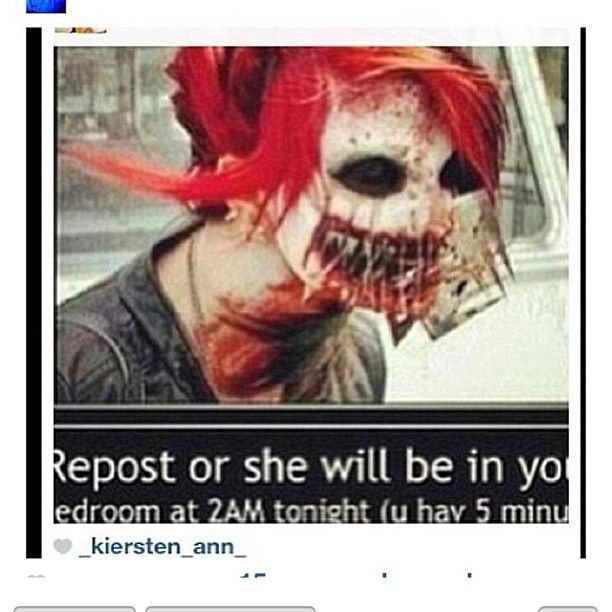 Lol when I saw the red hair I instantly thought Gerard way.. It didn. Scary  ThingsScary ...