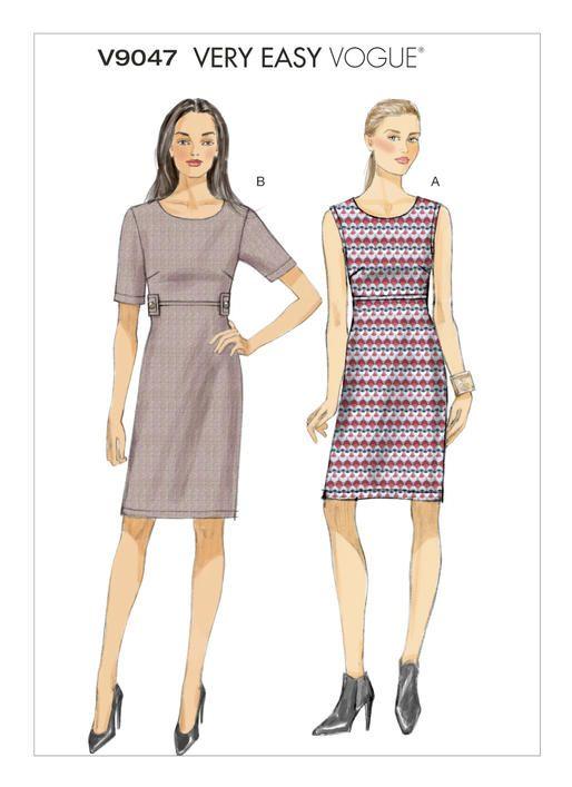 Vogue V9047 Empire Waist Dresses Pattern Stash Pinterest Vogue