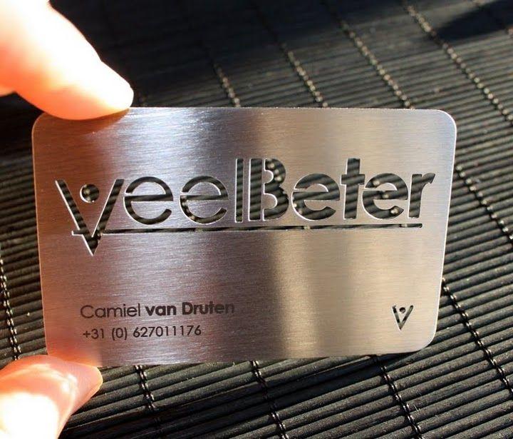 Metal steel business cards laser cut laser engraving