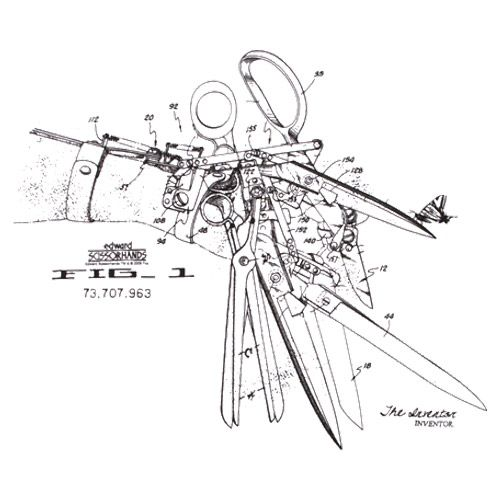 scissorhands technical drawing