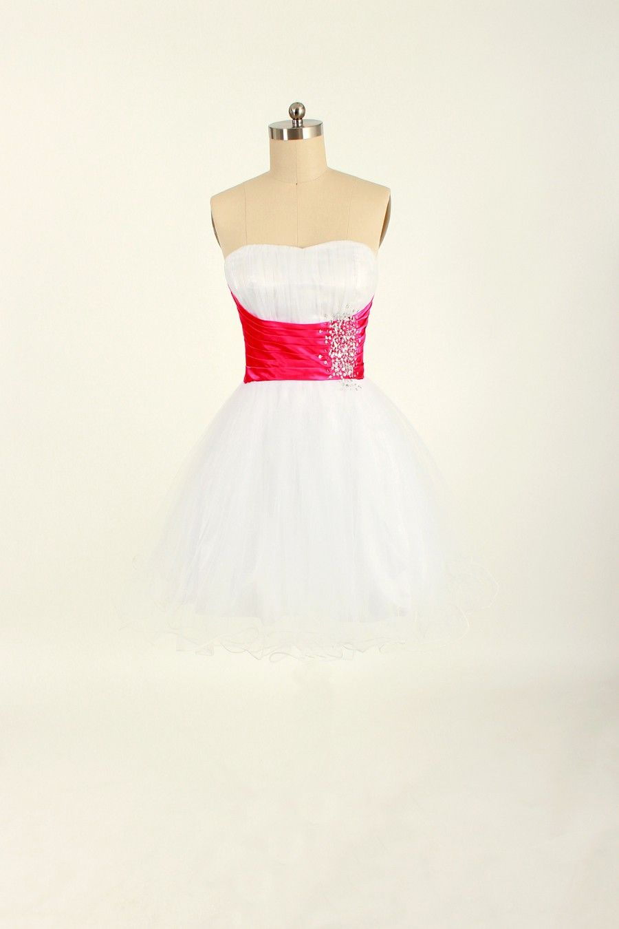 Crystal+beaded+tulle+short+home+coming+dress $300.00