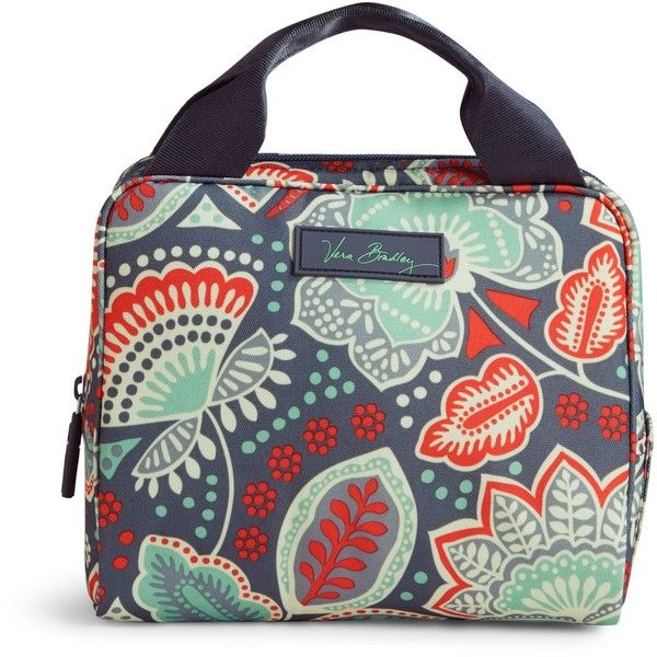 4eef897765 Vera Bradley Lighten Up Lunch Cooler Bag in Nomadic Floral ( 34) ❤ liked on  Polyvore featuring home