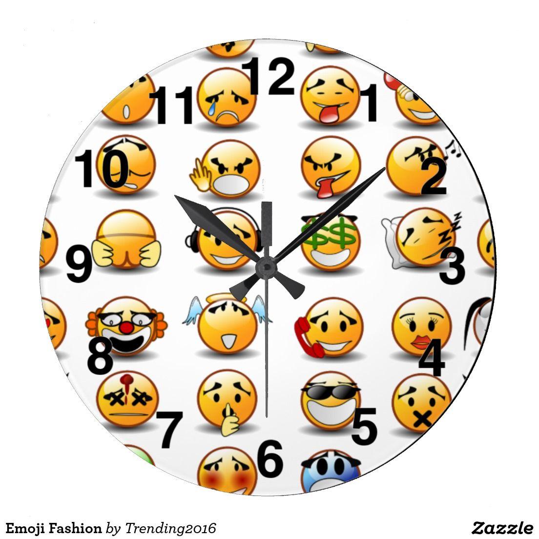Emoji Fashion Large Clock