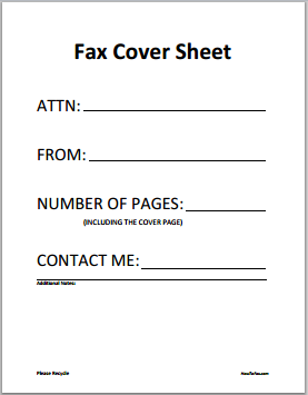 Fax Cover Sheet  Clipart