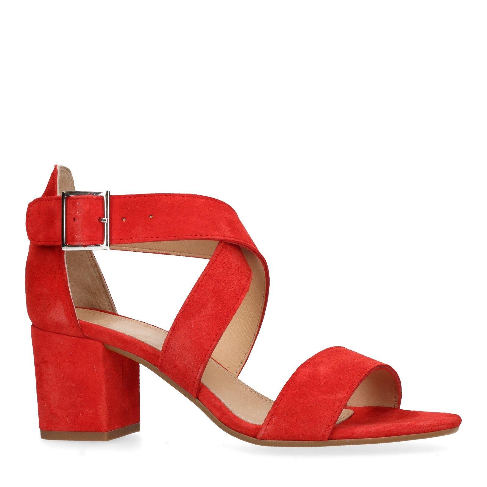 Rode sandalen met hak Dames | MANFIELD | Sandaal met hak