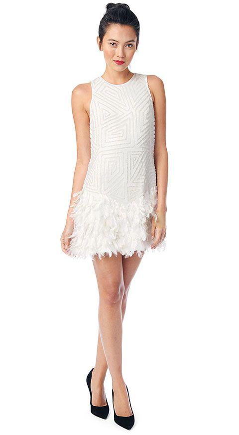 Parker New York Official Allegra Dress Winter White Womens Dresses Pa10800maf