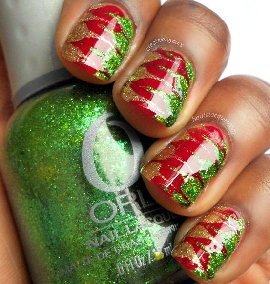 Haute Lacquer: Easy Christmas Drag Marble Nail Art w/ Tutorial ...