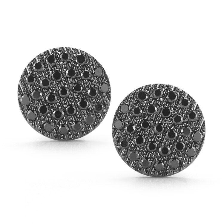 Lauren Joy Medium Disc Necklace Black Diamond Earrings Black Diamond Jewelry Dana Rebecca