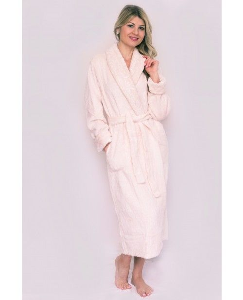 d4872f3a63 An intricate full length 100% Chenille Bathrobe with a luxurious set-in belt  on the back of the robe. Cotton Chenille Bathrobe with smooth texture and  vine ...