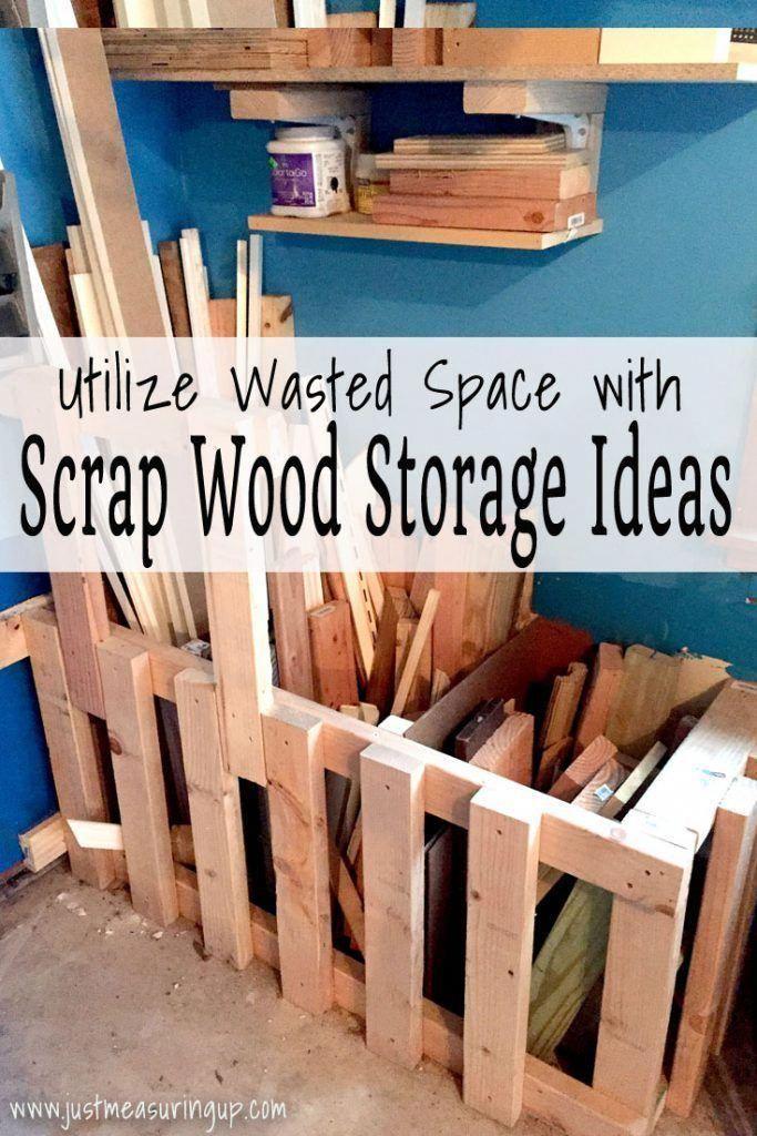 Scrap Wood Storage Bin | Organize Your Wood Scraps with these Garage Ideas