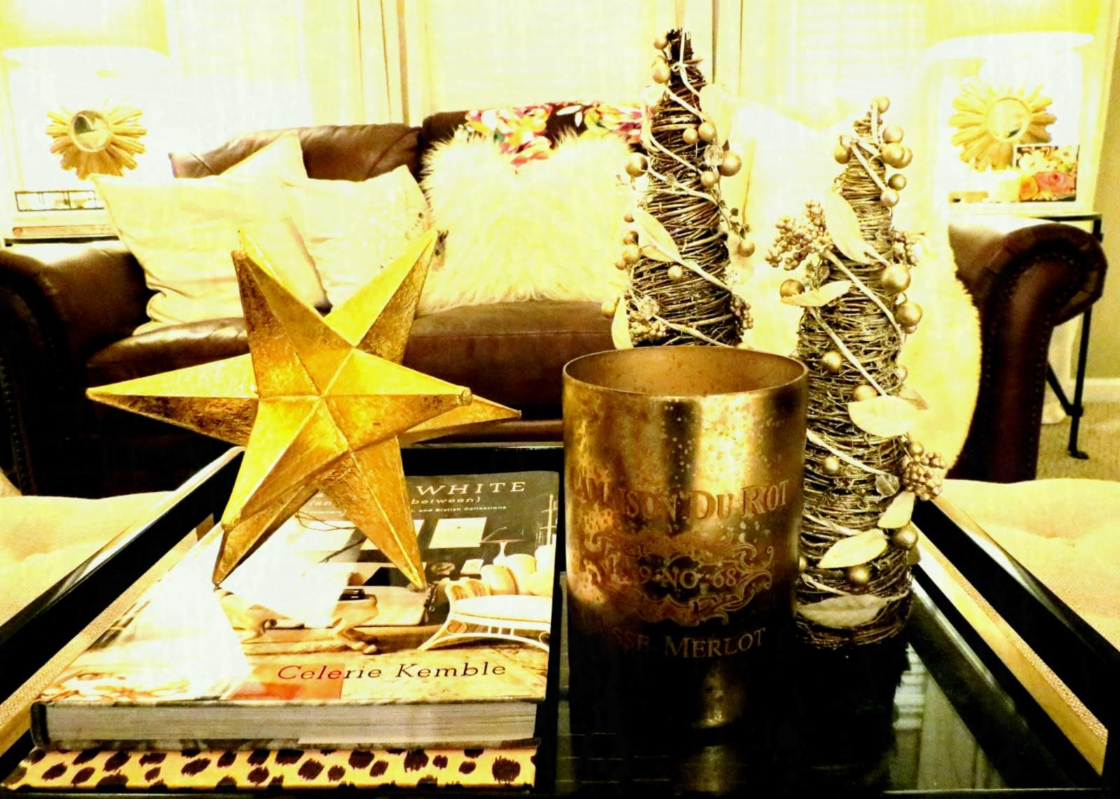 Pinterest Decor With Stars Yahoo Image Search Results Decorating Coffee Tables Christmas Table Decorations Gold Christmas