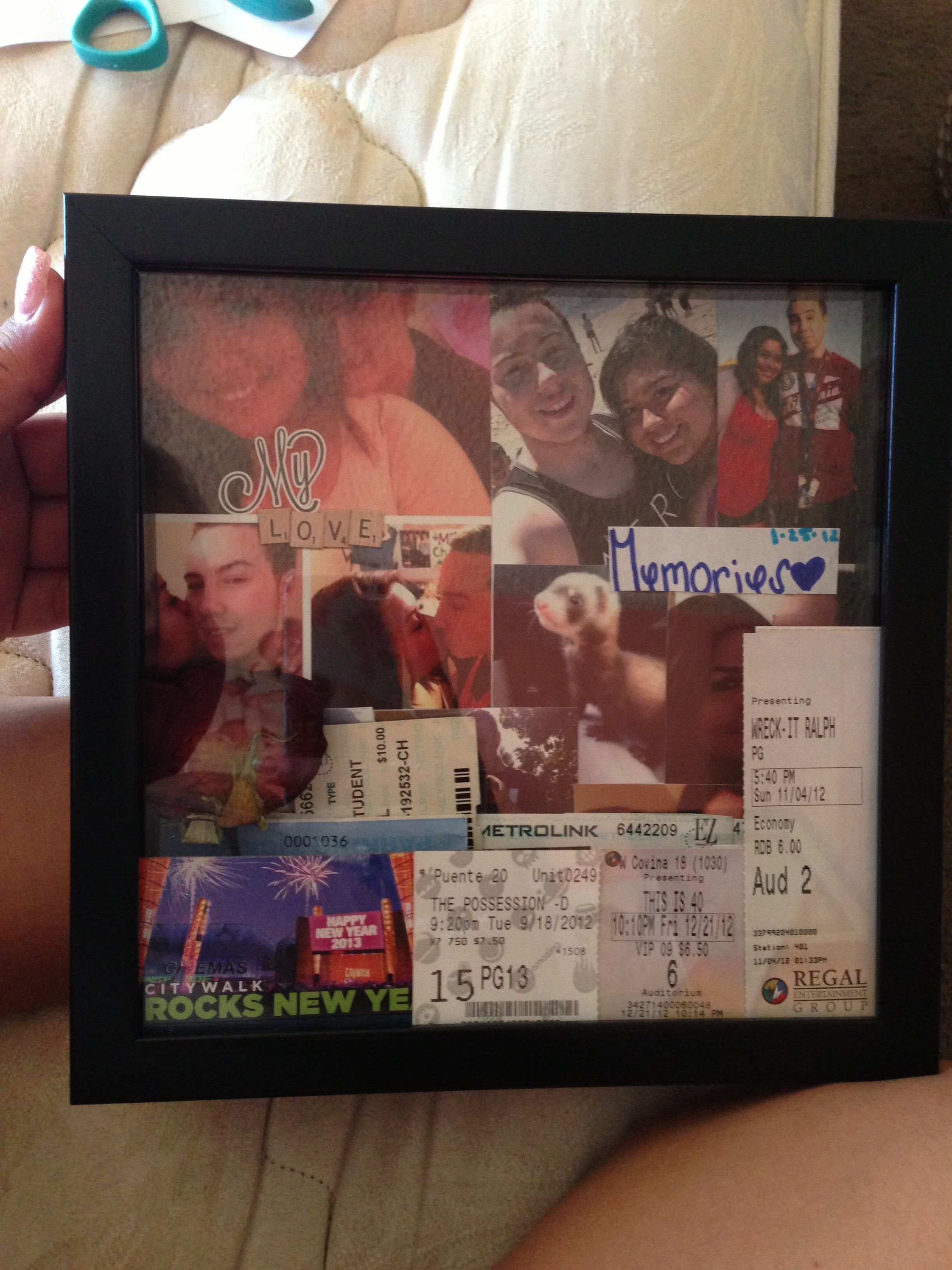 Made A Shadow Box For My Boyfriend ☺ Crafts Birthday