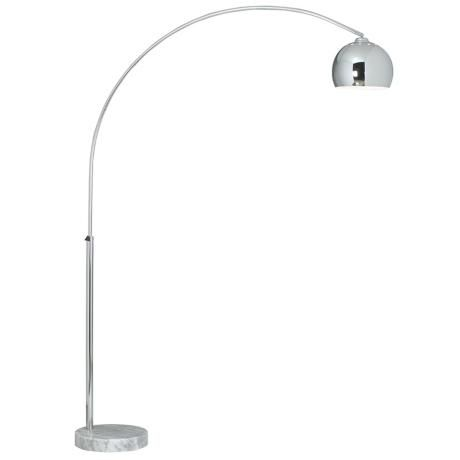 george kovacs polished chrome arc floor lamp