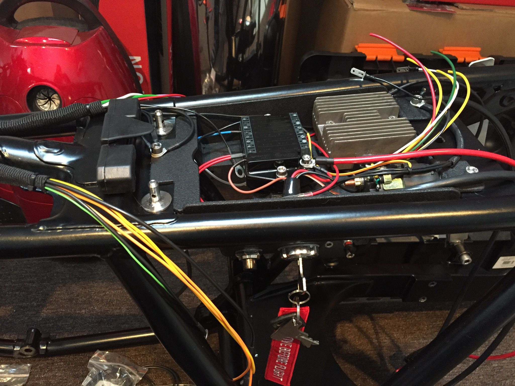 Hide Wiring Headlight Cafe Racer : Wiring the bike with m unit from motogadget
