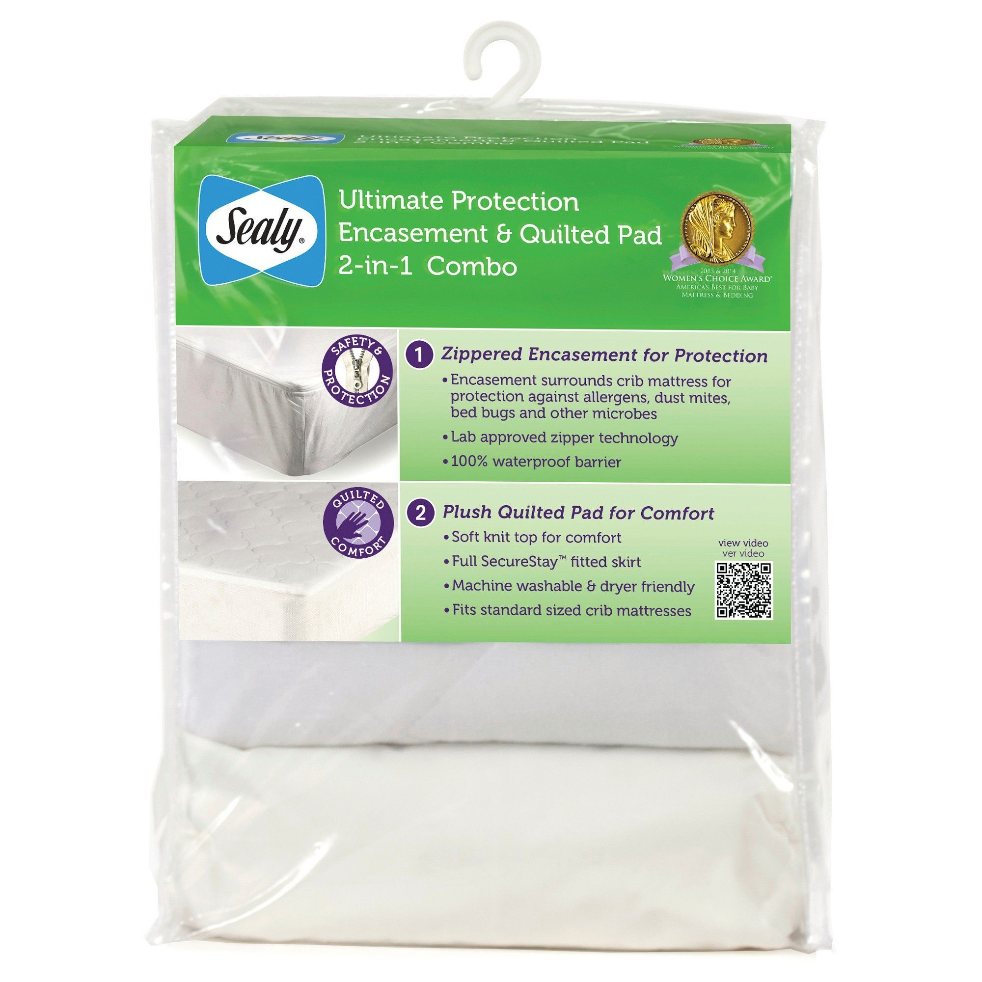 Sealy Ultimate Protection Encasement and Quilted Crib