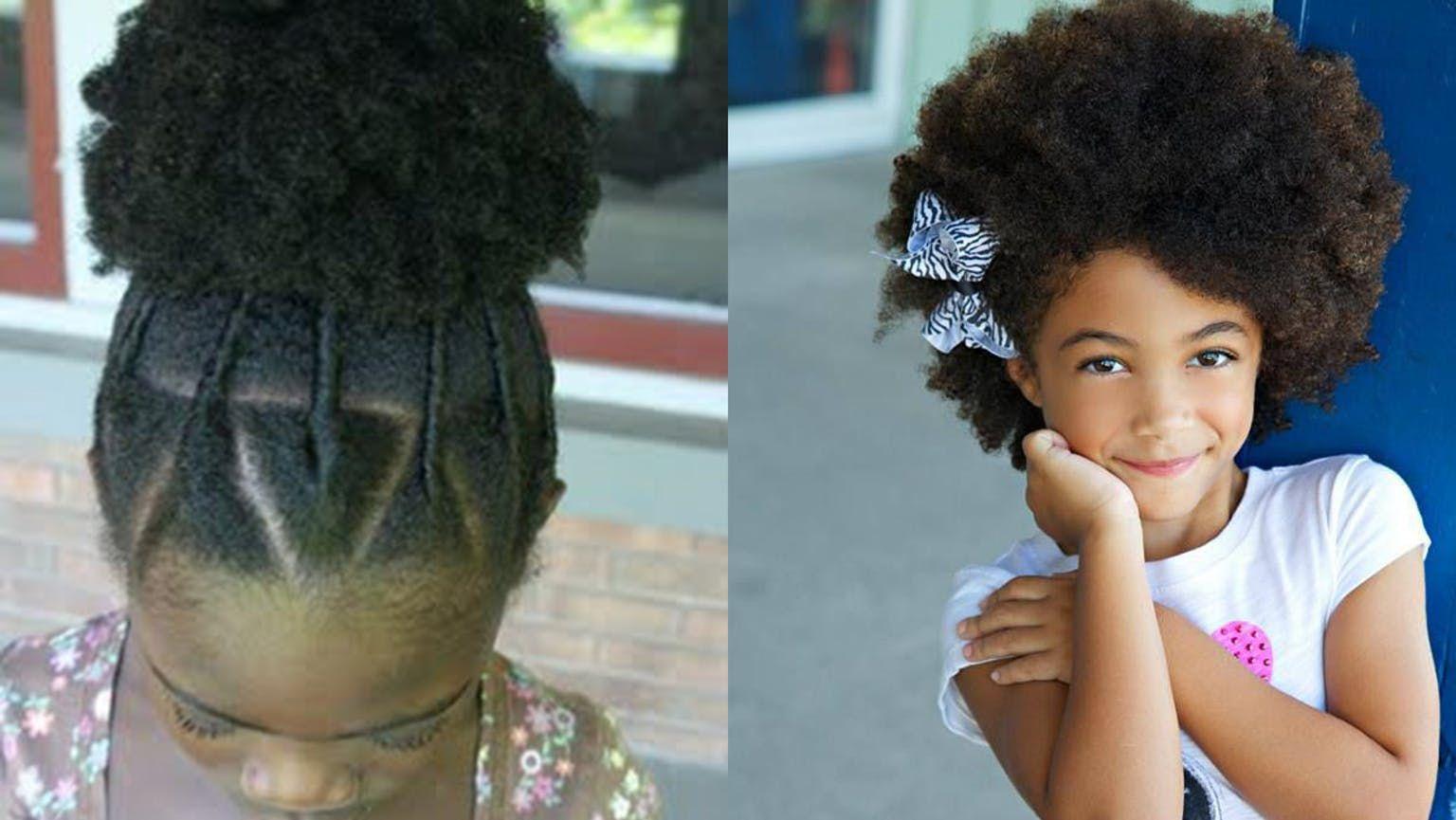 Mode Des Enfants Cheveux Crepus Coiffure Petite Fille Coiffure Facile