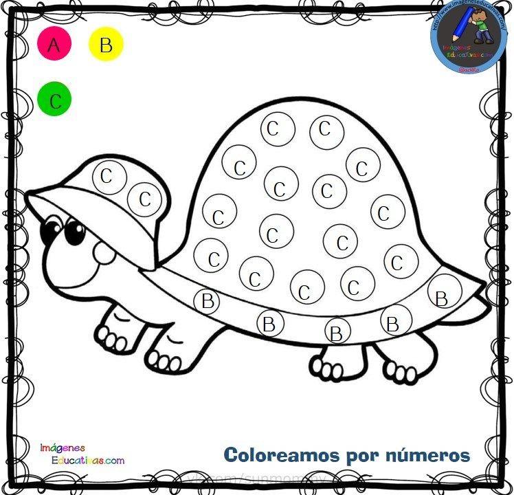 Fichas Para Colorear Por Letras Numeros Y Simbolos Atividades