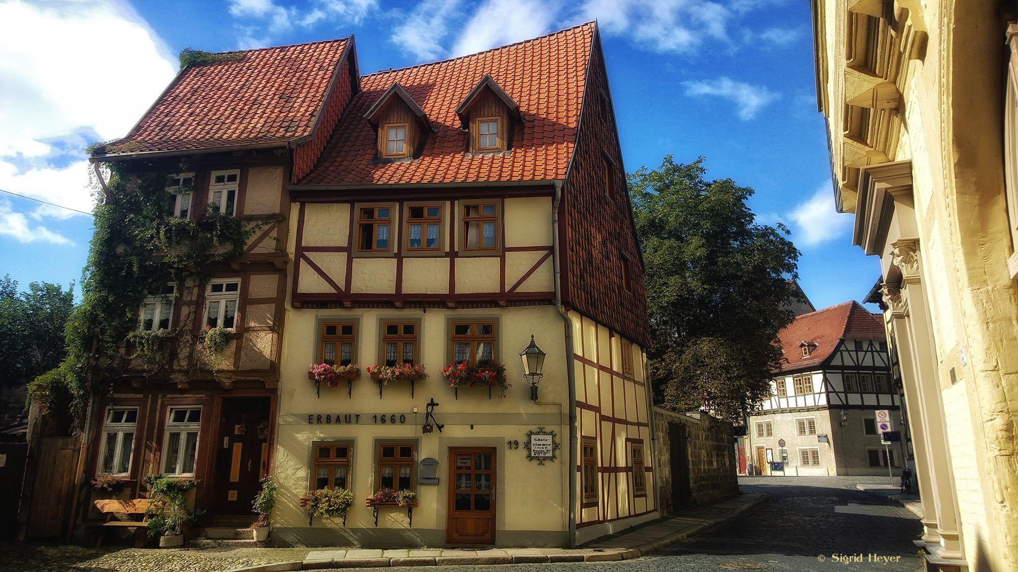 Eng aneinandergeschmiegt hier Quedlinburg