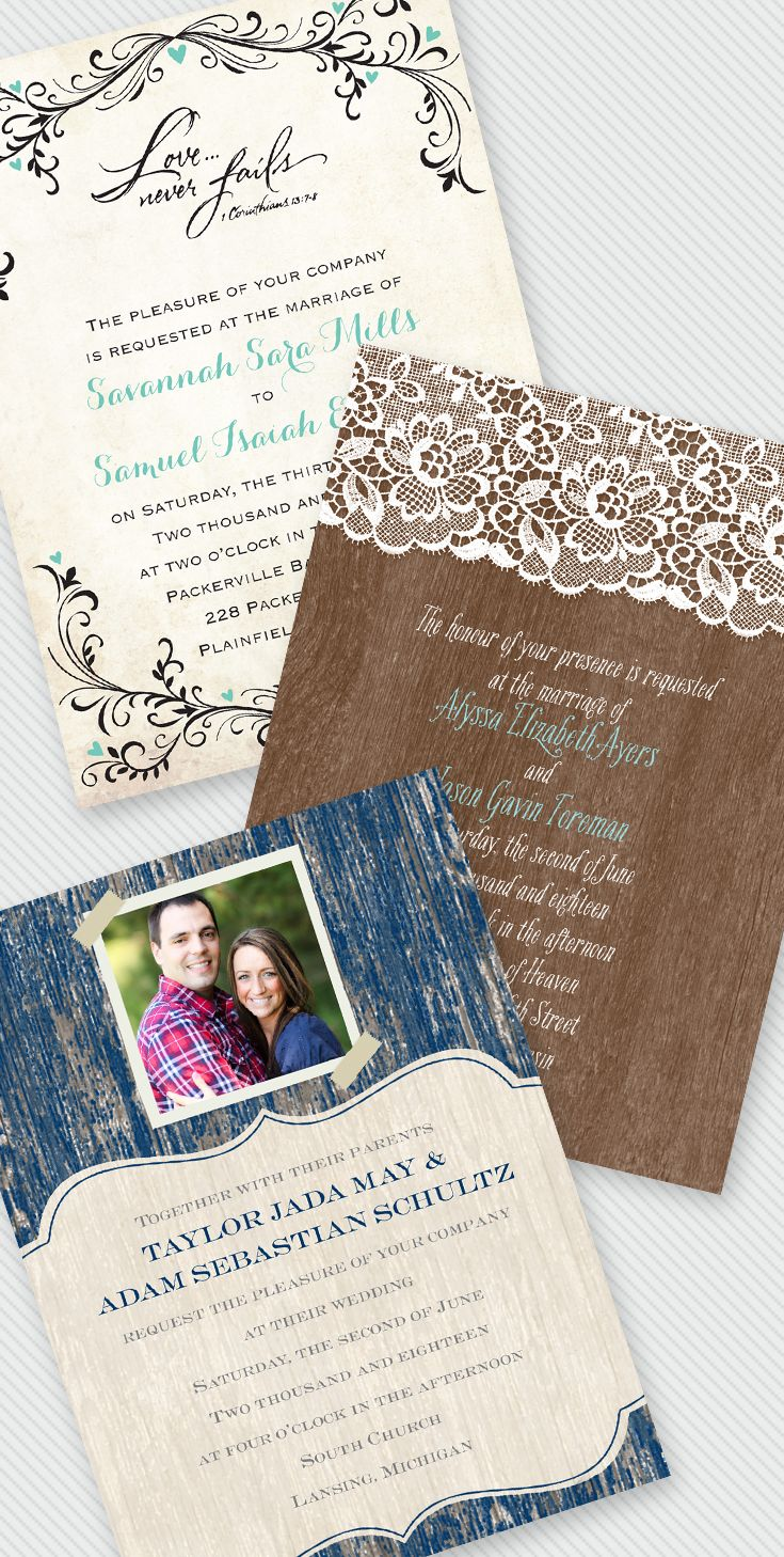 Truth Wedding invitations can have style and look fabulous