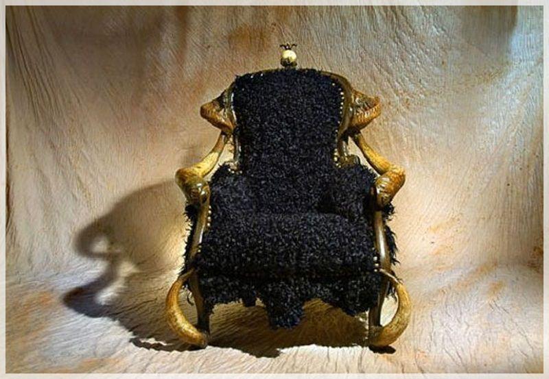 unique Moun exotic luxury furniture design by Michel Haillard